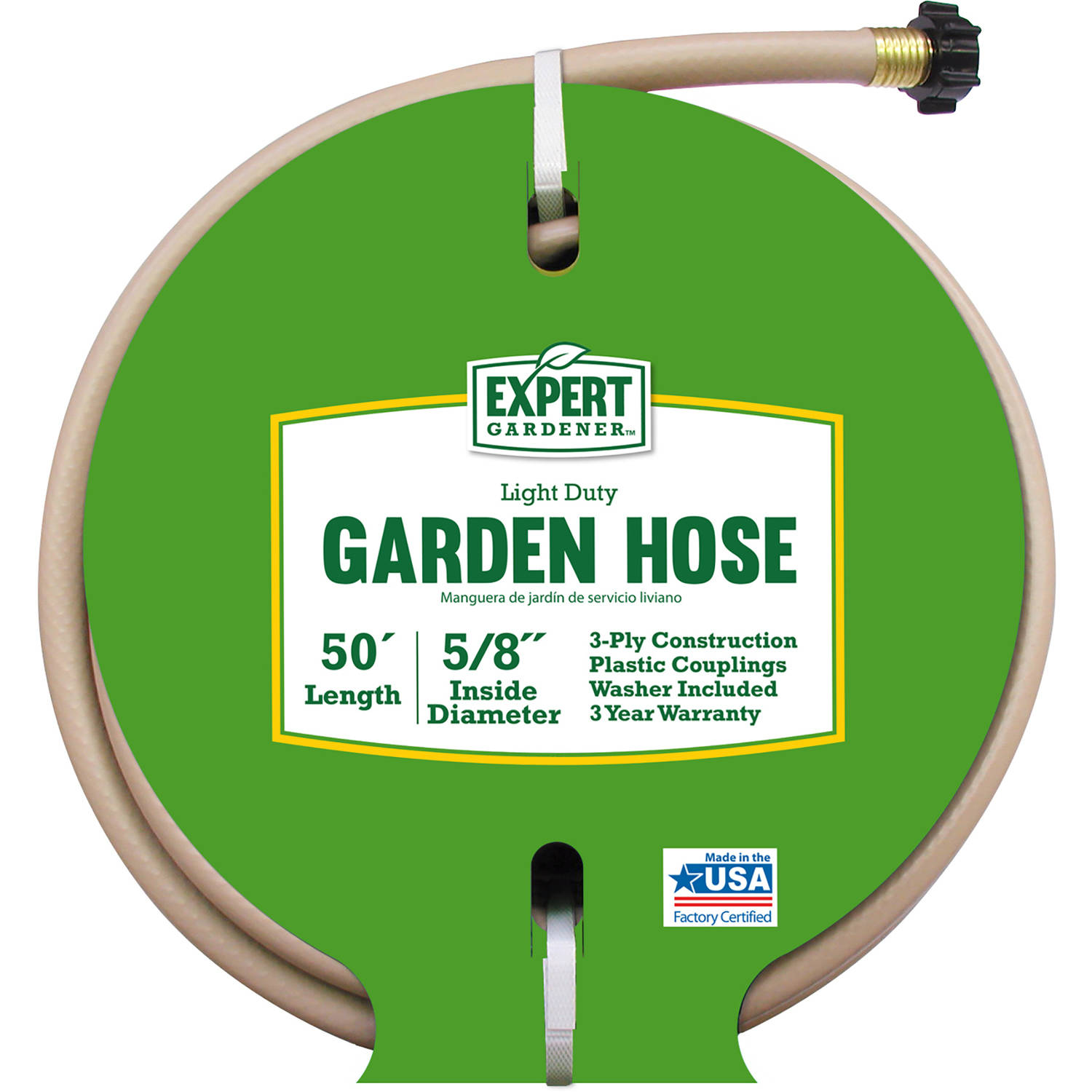 Expert Gardener 50' Light-Duty Garden Hose