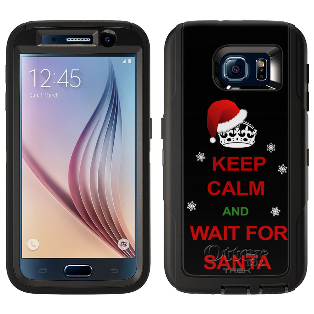 OtterBox Defender Samsung Galaxy S6 Case - KEEP CALM and Wait for Santa on Black OtterBox Case
