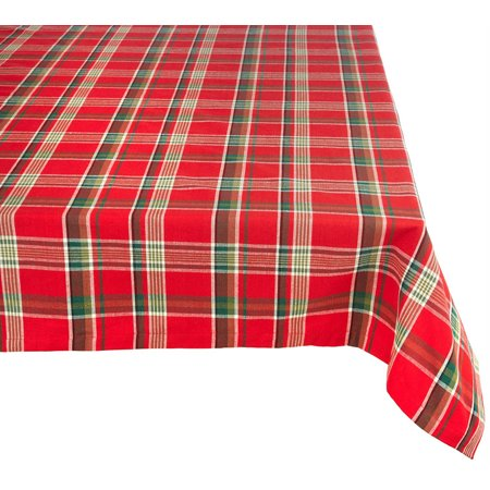 Red Plaid Tablecloth (Design Imports Tango Red Plaid Tablecloth 60 X 84
