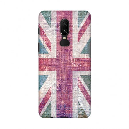 OnePlus 6 Case - UK flag- Wood texture, Hard Plastic Back Cover, Slim Profile Cute Printed Designer Snap on Case with Screen Cleaning (Discount Designer Uk)