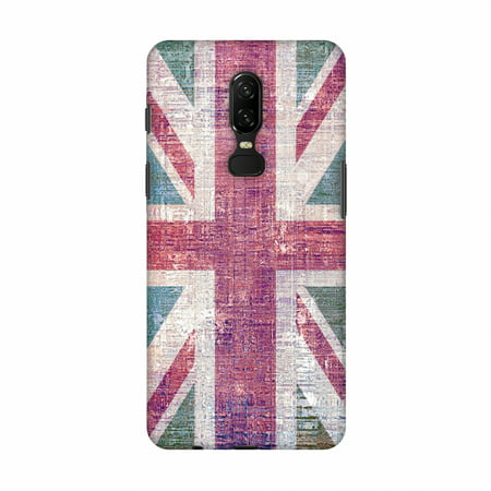 OnePlus 6 Case - UK flag- Wood texture, Hard Plastic Back Cover, Slim Profile Cute Printed Designer Snap on Case with Screen Cleaning (Designer Sale Online Uk)
