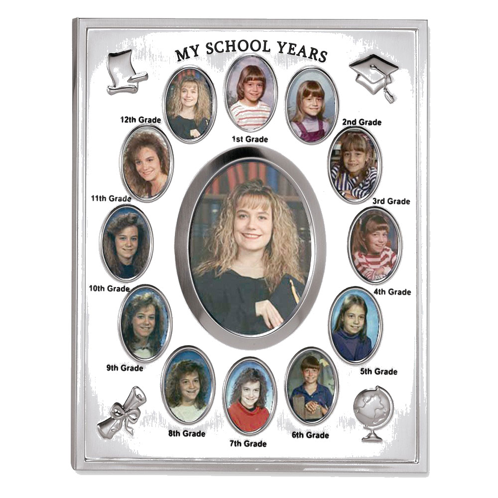 Silver-plated My School Years Photo Frame - Engravable Perfect Graduation Gift