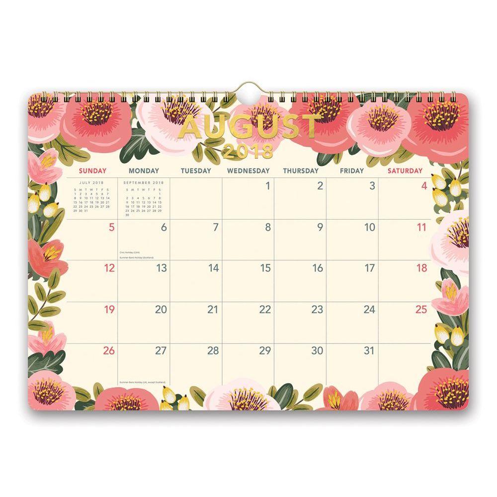 2019 Flower Power Wall Calendar, Weird | Interesting by Orange Circle Studios Co