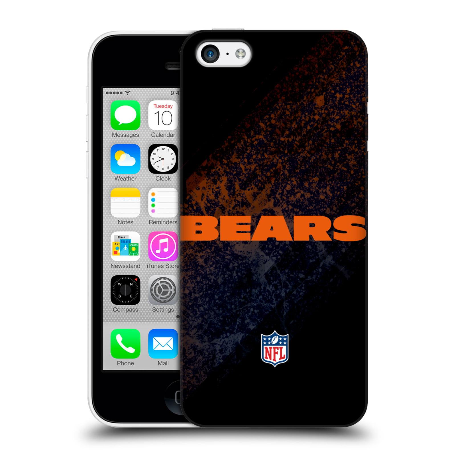 OFFICIAL NFL CHICAGO BEARS LOGO HARD BACK CASE FOR APPLE IPHONE PHONES