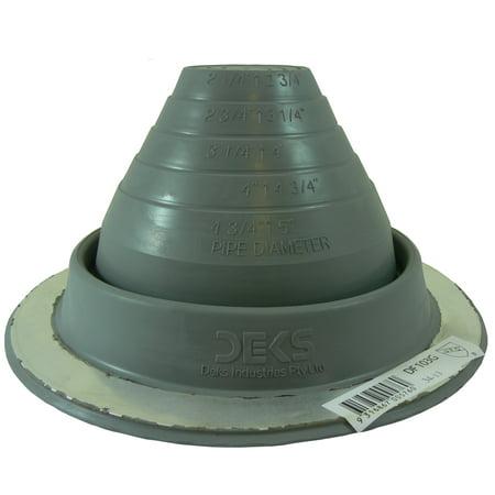 3 Df103g Gray Epdm Dektite Round Base Metal Roofing