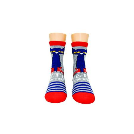 Kids Pete the Cat Stripe Crew Socks - Striped Socks Kids