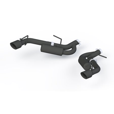 System Axle - MBRP 16+ Chevrolet Camaro 2.5in Black Coated Non NPP Axle Back Exhaust System - 4in Dual Wall Tips