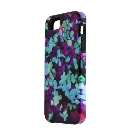 Case-Mate Designer Print Series Case Cover for iPhone SE 5S 5 Purple Blue Flower ()