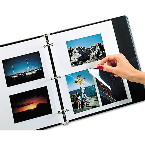 C-Line Redi-Mount Photo Sheets, 3-Hole Punched, 11 x 9, 50 Sheets/Box