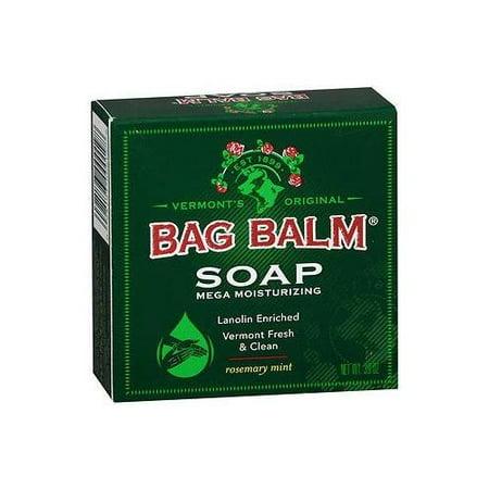 6 Pack Bag Balm Mega Moisturizing Soap Rosemary Mint 3.90oz Each - Liquid Soap Rosemary Mint