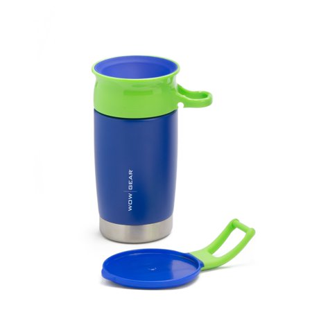 WOW GEAR Kids Double Walled Insulated Stainless Steel Sports Bottle - Blue