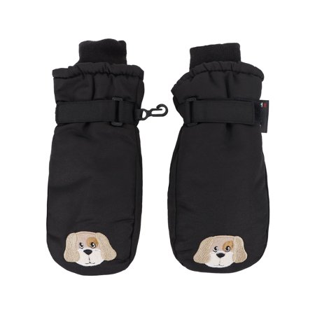 Dot Mitten - SimpliKids Children's Winter 3M Thinsulate Waterproof Ski Mitten Gloves,Toddler,Navy#11 Dog