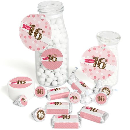 Sweet 16 - 16th Birthday Party Decorations Favor Kit - Party Stickers & Tags - 172 pcs