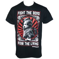 Licensed THE WALKING DEAD Daryl Dixon Fight Poster T-Shirt Black