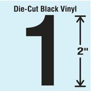 STRANCO INC DBV-2-1-10 Die Cut Number Label, 1, 10 Cards,PK10