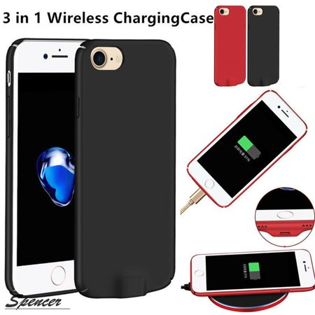 wholesale dealer 807df 80964 Spencer Qi Wireless Charging Receiver Case with Additional Lightening Port  for iPhone 6/6S/7 Plus Ultra-slim Protective Back Cover (5.5