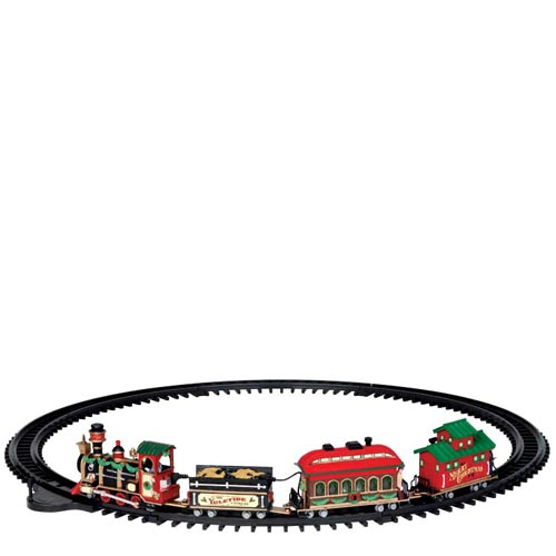 Lemax Yuletide Exress Train Village Accessory Multicolored Resin 44 in.