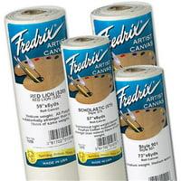Fredrix T1075 57 inch x 6 yards 575 Scholastic Acrylic Primed Polyflax Canvas Roll