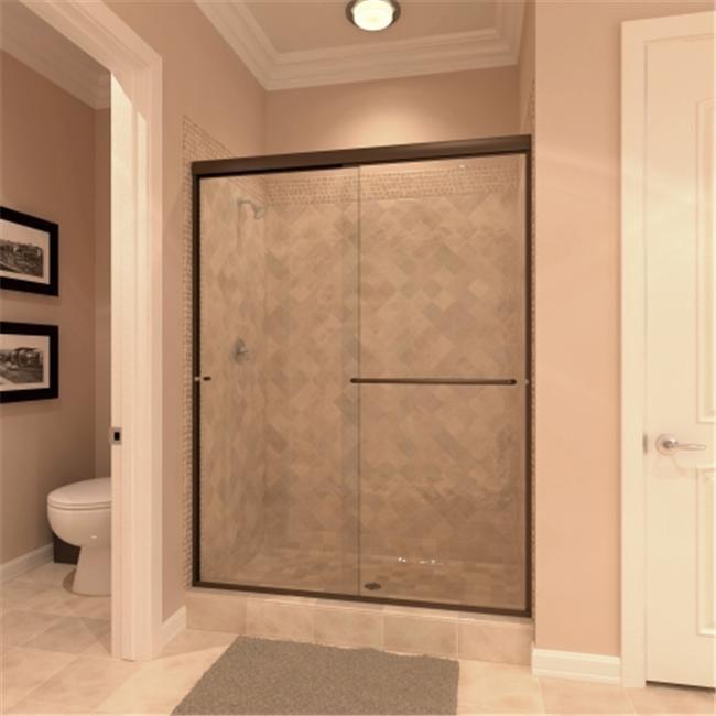 Amora Shower Door Euro Style Bi-Pass Door for 66 to 72 width range 3/8 height Oi
