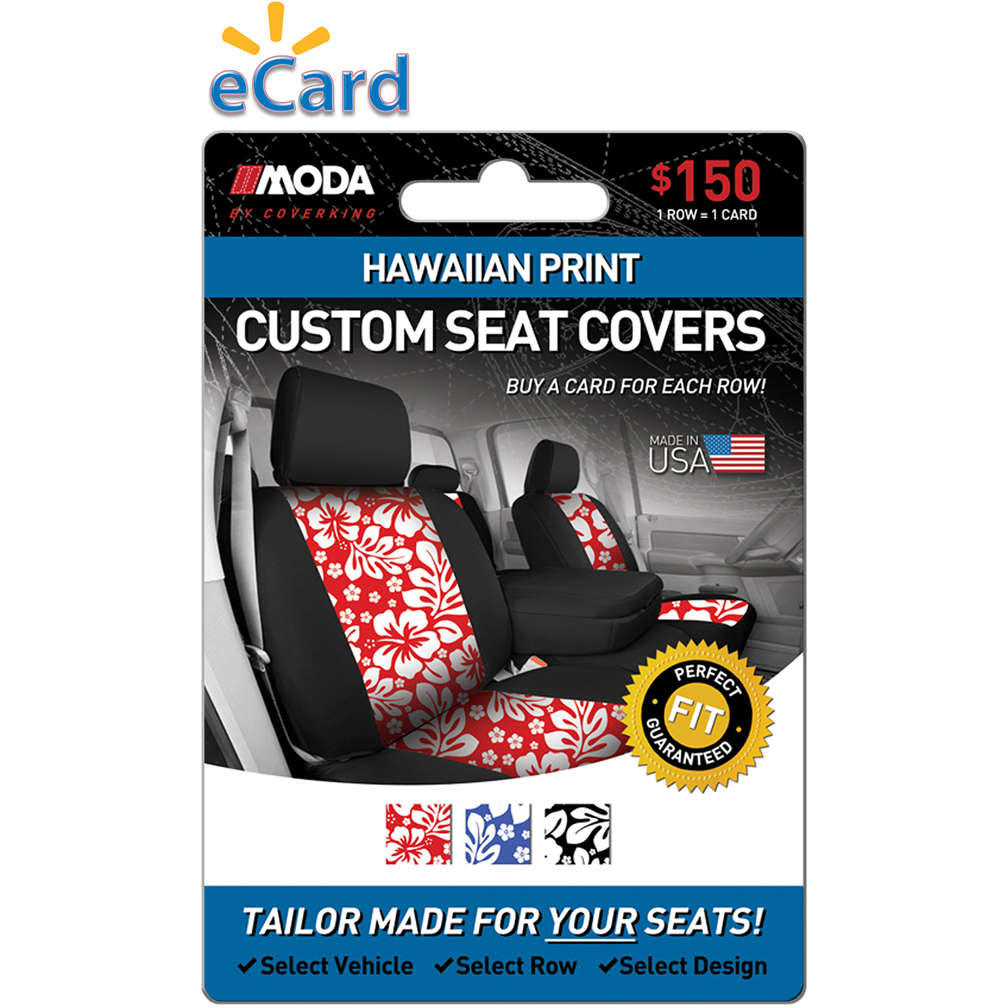 MODA by Coverking Designer Custom Seat Covers Hawaiian $150 (Email Delivery)