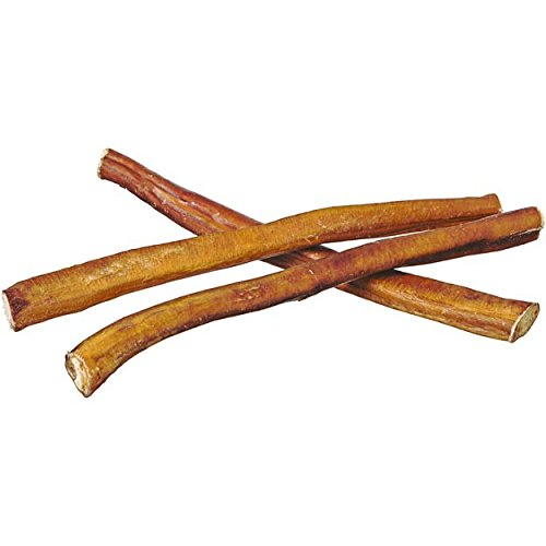 "12"" Straight Bully Sticks for Dogs [Medium Thickness] (250 Pack) - Natural Low Odor Bulk Dog Dental Treats, Best Thick Pizzle Chew Stix, 12 inch, Chemical Free"