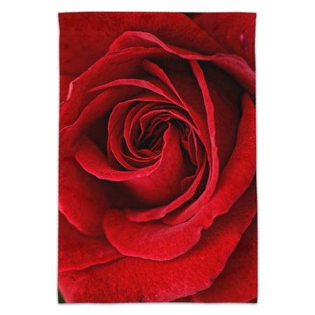 Red Rose Close-up Garden Yard Flag