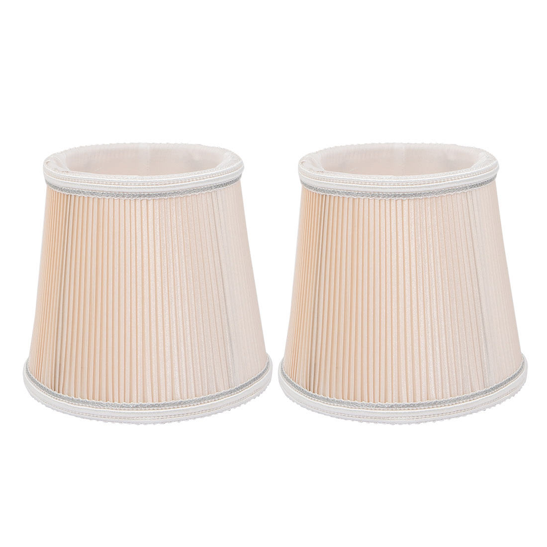2pcs Wall Shade Light Shade Chandelier Clip-On Lampshade Beige Fabric-Covered by