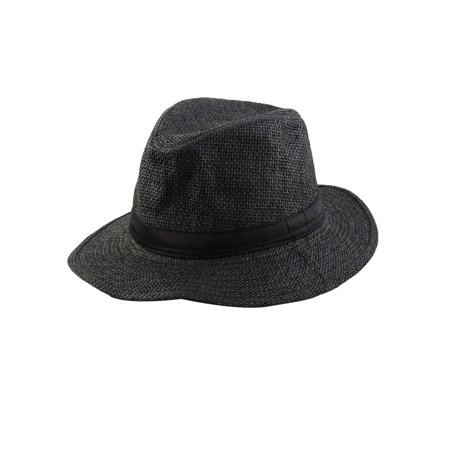 Men Summer Straw Braided Wide Brim Western Style Beach Sunhat Cowboy Hat