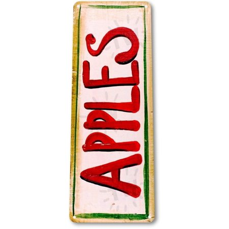 TIN SIGN B018 Apples Paint Rustic Decor Garden Farm Home Shop Fruit Cottage Metal Decor, By Tin - Shop Home Decor