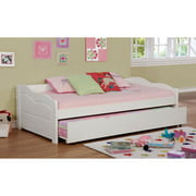 furniture of America Tedel Transitional Curvy Wooden Daybed with Trundle