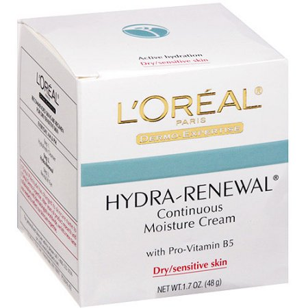 Loreal Hydra Renewal Moisture Cream With Pro Vitamin B5  1 7 Oz