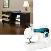 Sauder Sewing Craft Table and Brother XL-2600i Sewing Machine