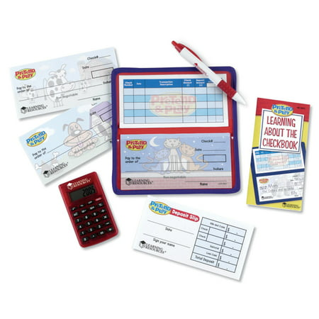 learning resources pretend play calculator checkbook walmart com