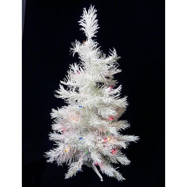 2 Ft White Christmas Tree: NorthLight 2 Ft. Pre-Lit White Artificial Christmas Tree