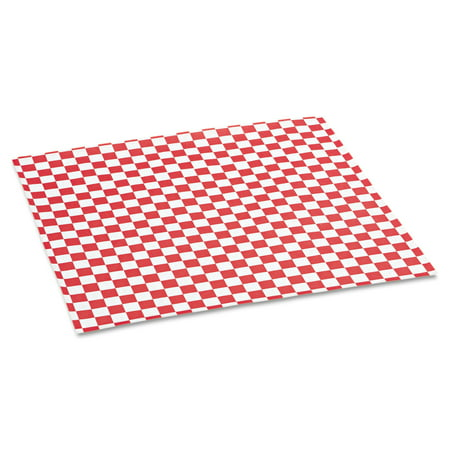 Bagcraft Papercon Red Checkered Grease-Resistant Paper Wrap/Liners, 1000 count, (Pack of 5) (Checkered Paper)