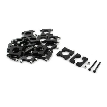 Unique Bargains 20 Pcs 16mm Black Aluminum Clamp for Carbon Fiber Tube RC Quadcopter Hexrcopter (Quadcopter Carbon Fiber Frame)