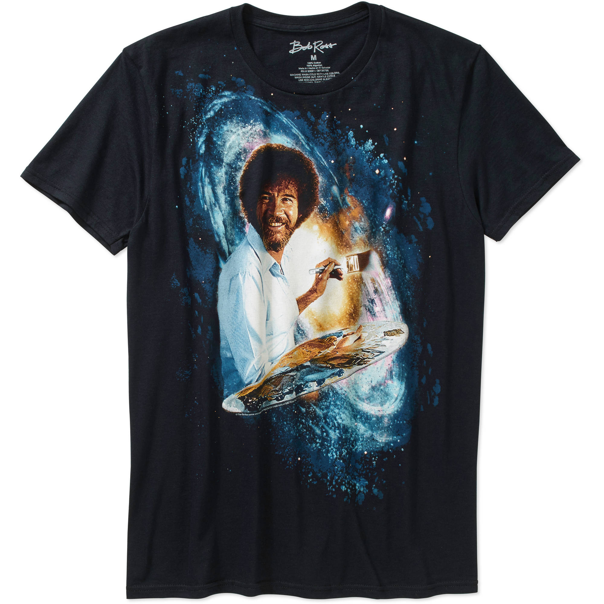 Bob Ross Galaxy Men's Graphic Tee