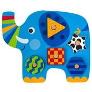 Shaped Wooden Peg Puzzle, Elephant