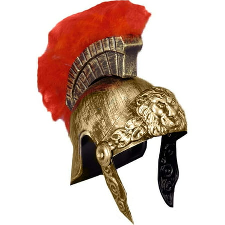 Roman Gladiator Helmet Spartan Warrior Trojan Greek Spartan Armor Costume Hat](Greek Spartan)