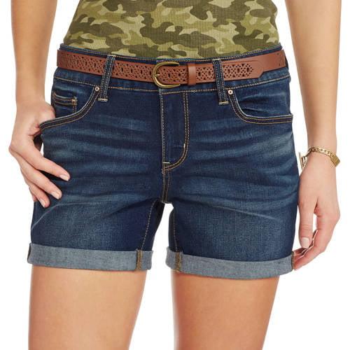 womens 45 belted shorts walmartcom