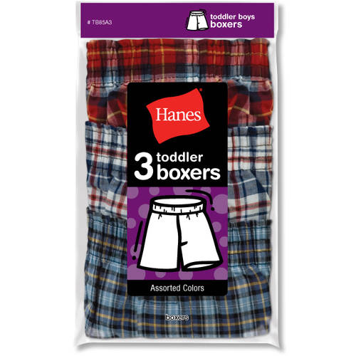 Hanes Baby Toddler Boy Boxers, 3-Pack