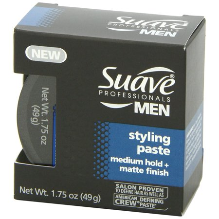 (2 Pack) Suave Men Medium Hold Styling Aid with Matte Finish, 1.75 (Best Mens Matte Hair Products)