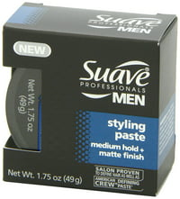 Suave Men Medium Hold Styling Aid with Matte Finish, 1.75 oz