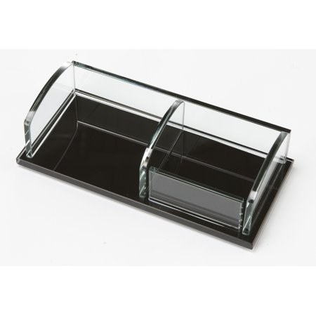 Storex Executive Note/Clip Holder,Glass (Case of 6)