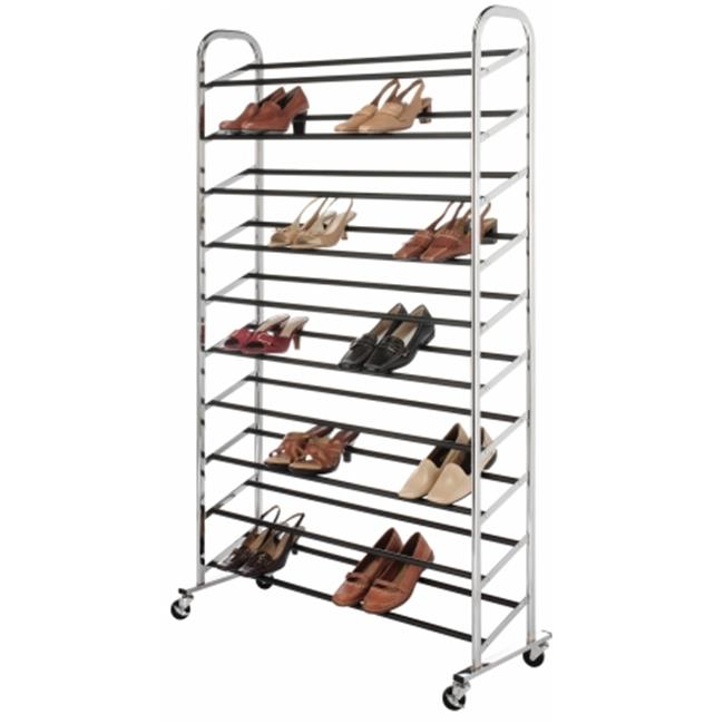 Whitmor Mfg. 6060-3510 Chrome Supreme 50 Pair Shoe Rack