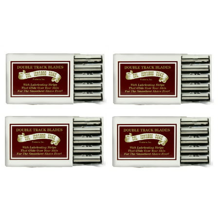 Colonel Ichabod Conk Trac II Razor Blades 10 ct. (Pack of 4) + Yes to Coconuts Moisturizing Single Use Mask Colonel Ichabod Conk Straight Razor