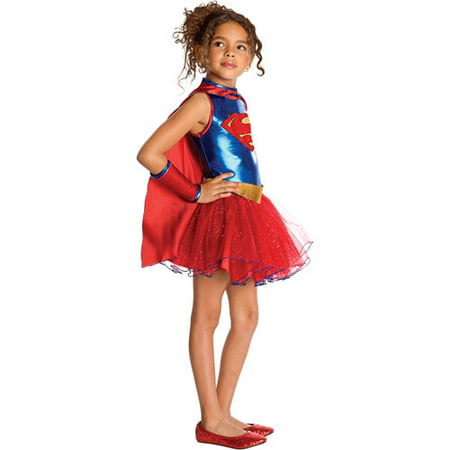 Supergirl Tutu Child Halloween Costume - Supergirl Makeup