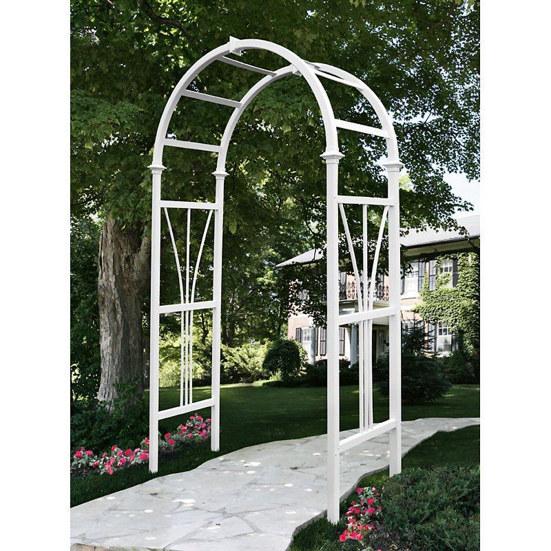 New England Arbors Eden Dublin 7-ft. Vinyl Arch Arbor by New England Arbors