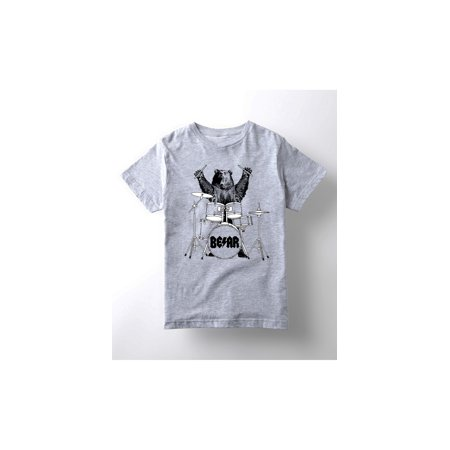 bear drummer-YOUTH SHORT SLEEVE TEE (Drummer Bear)
