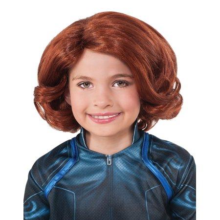 Black Widow Wig Child-Licensed Marvel Comics Avengers 2 (Avengers Black Widow Wig)